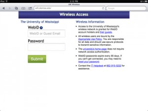 Screenshot of the new wireless access form