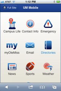 New UM Mobile Website Layout