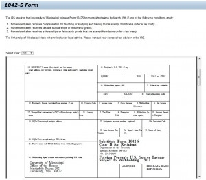 Viewing a 1042-S form online