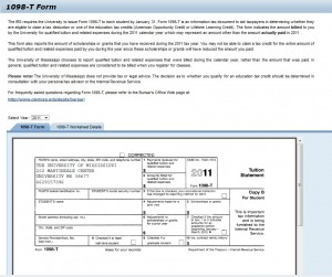 Viewing a 1098-T form online