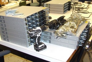Preparation of network equipment/switches for installation