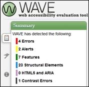 WAVE errors