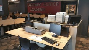 Galtney Center for Academic Computing (IT Lab) provides access to more than 40 Windows-based computers as well as 12 Macintosh computers. There are also three printers available to students, two black and white laser printers and one color laser printer. IT Printing Services is supported by WebID authentication and billing.